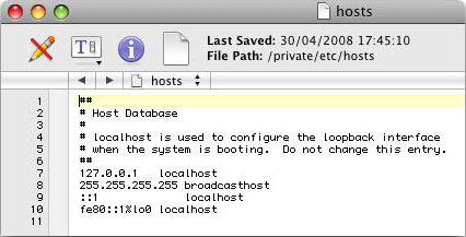Creating a virtual host in Mac OS X (Leopard) | MacTale